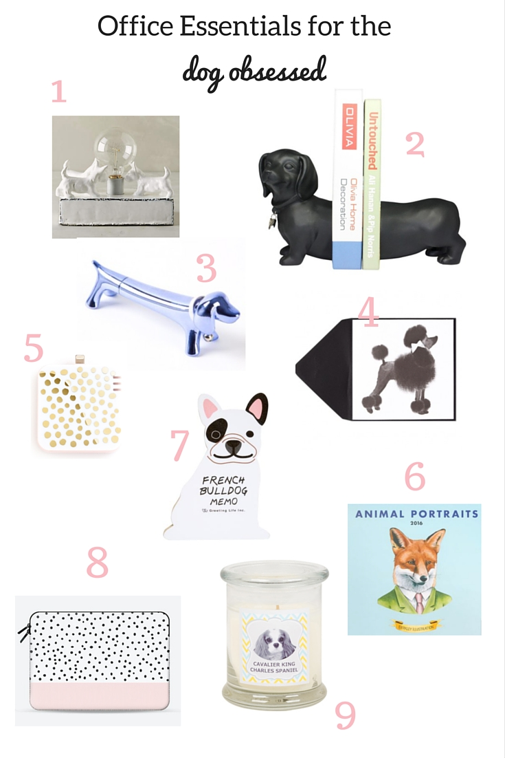 office essentials for the dog obsessed