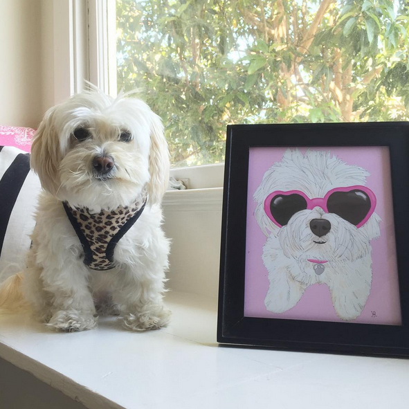 Ladie Katie's custom dog portrait in San Francisco