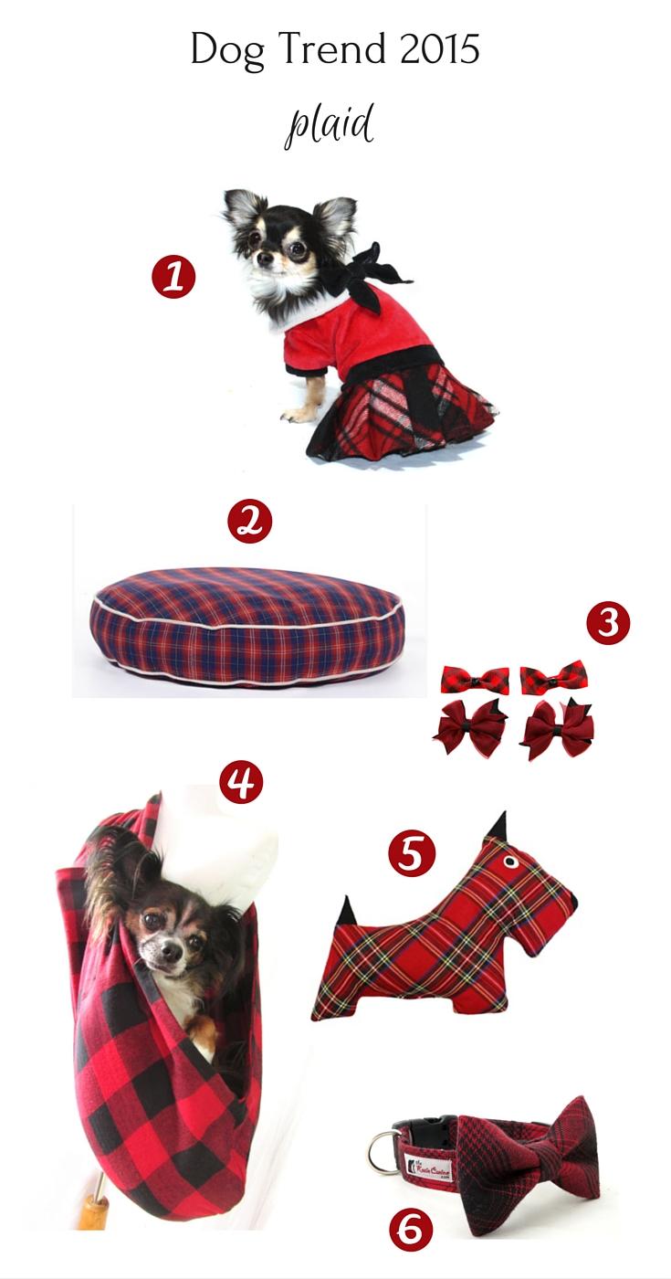Dog fashion trend for 2015 - plaid