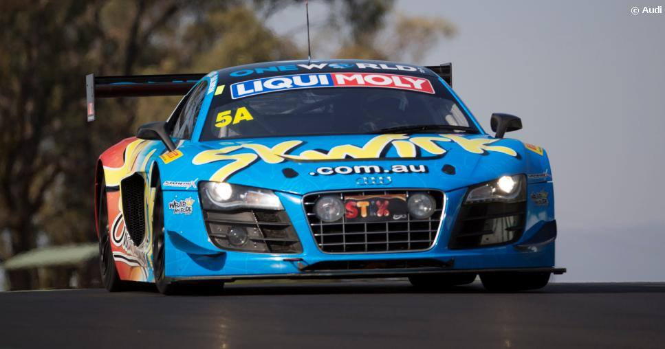 The Audi R8 LMS Ultra GT3 previously seen racing at Bathurst