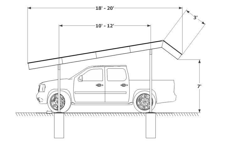 Carport Mansard Sketch