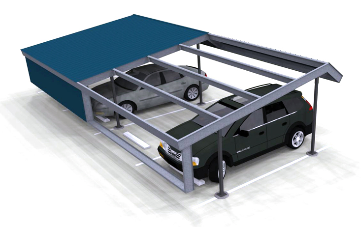 Carport Double Mansard SB Render