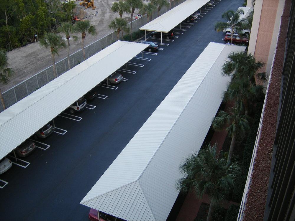 Offset Gable Carport Structures Corp