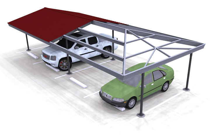Even gable hip end carport structures corp for Metal hip roof