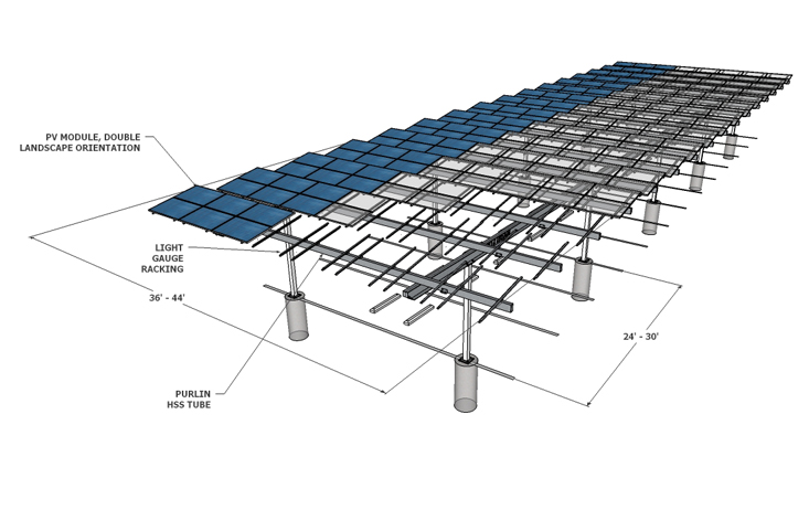 Solar Carport Louvered Render