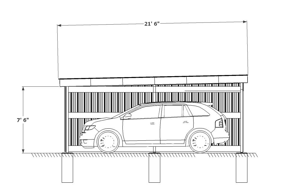 Carport sketch flat