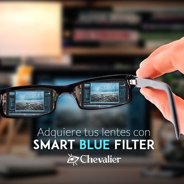 Protege a tu vista de las luces azules con nuestros lentes Smart Blue Filter ¡No dejes que la computadora, celular o tablet irriten o cansen tus ojos!  #opticaschevalier #smartbluefilter #vista #panamá #pty