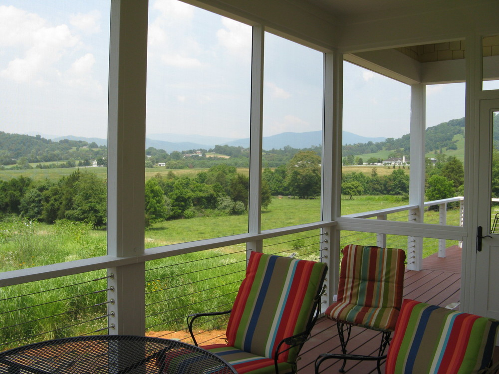 Screened Porch with Mountain Views