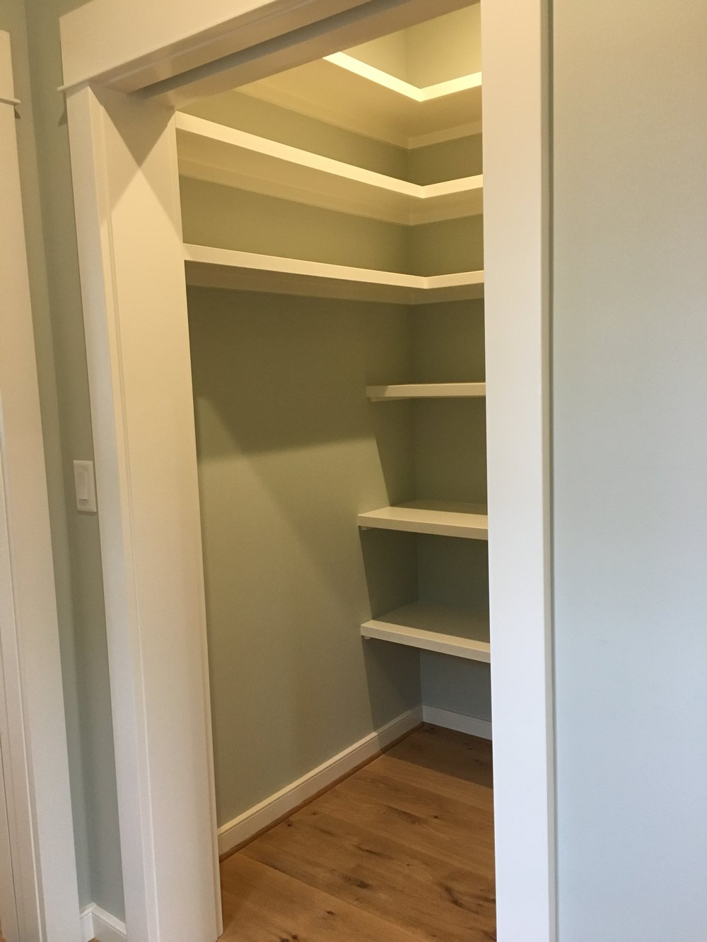 Walk-In Pantry between Mudroom and Kitchen