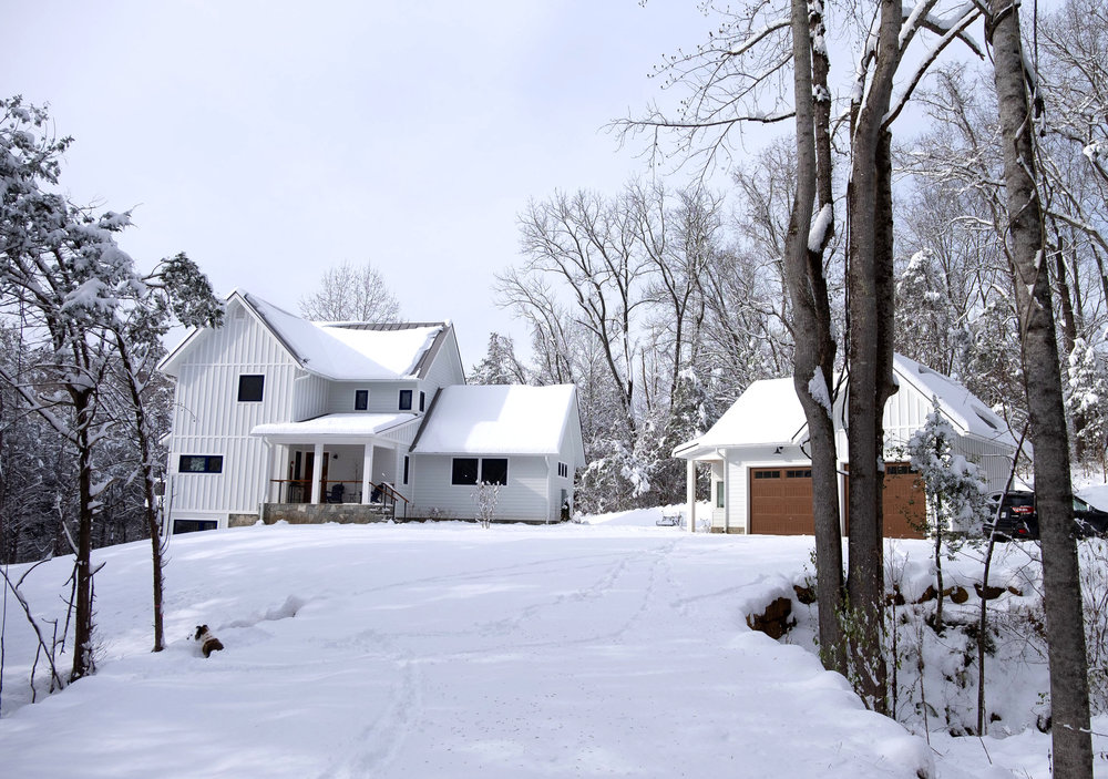 Franks Residence - Driveway in the snow