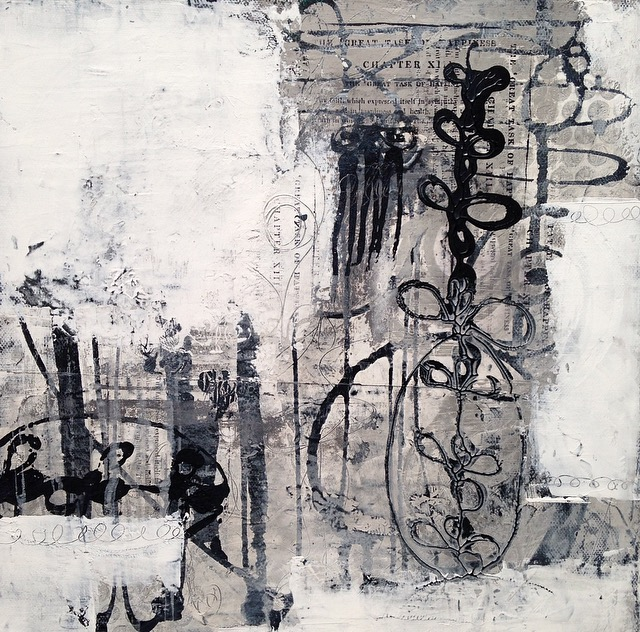 """""""Submission (number one)"""" Mixed-media on canvas (12x12)"""