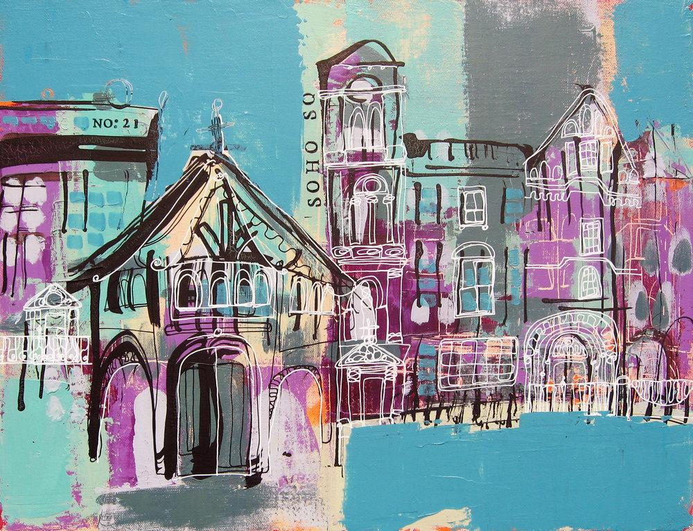 Soho Square, London 12x16x1.5 £96