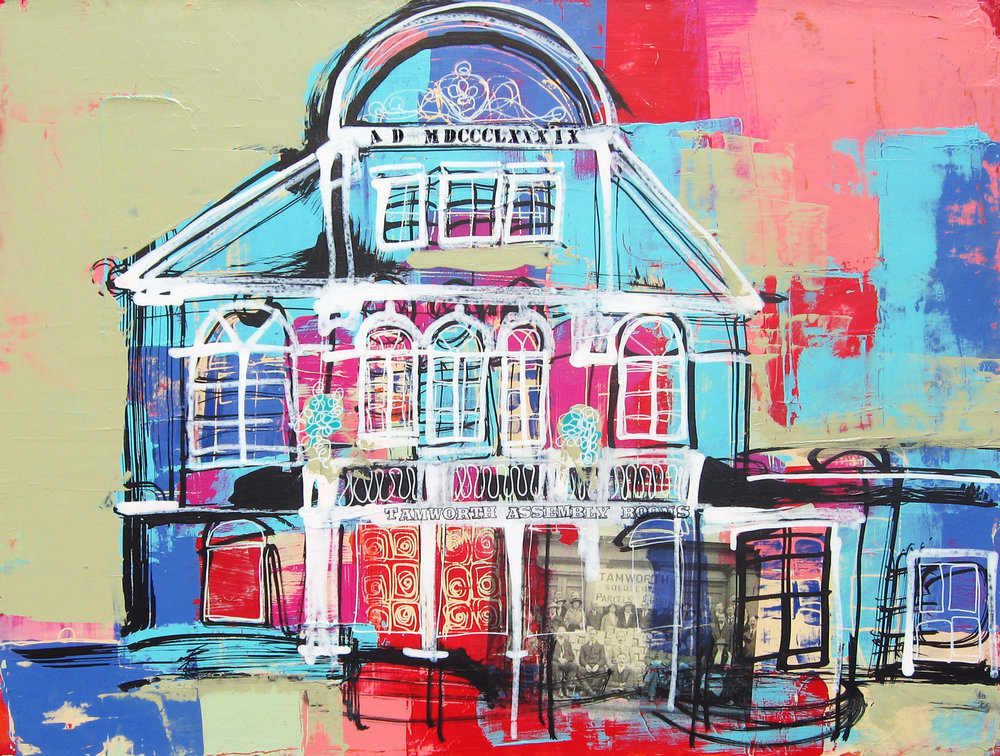 Assembly Rooms, Tamworth 12x16x1.5 (SOLD)