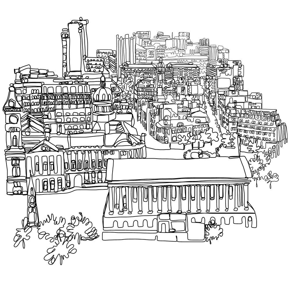 Birmingham Town Hall & View