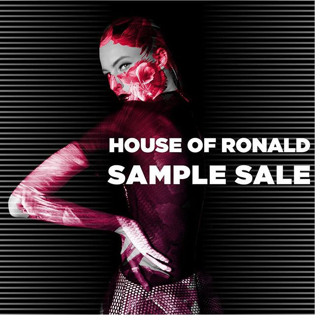 @houseofronald #samplesale from the 28th of September till the 1st of October at our studio in achrafieh tabaris- 11am to 5pm - call 03393128 for more information!