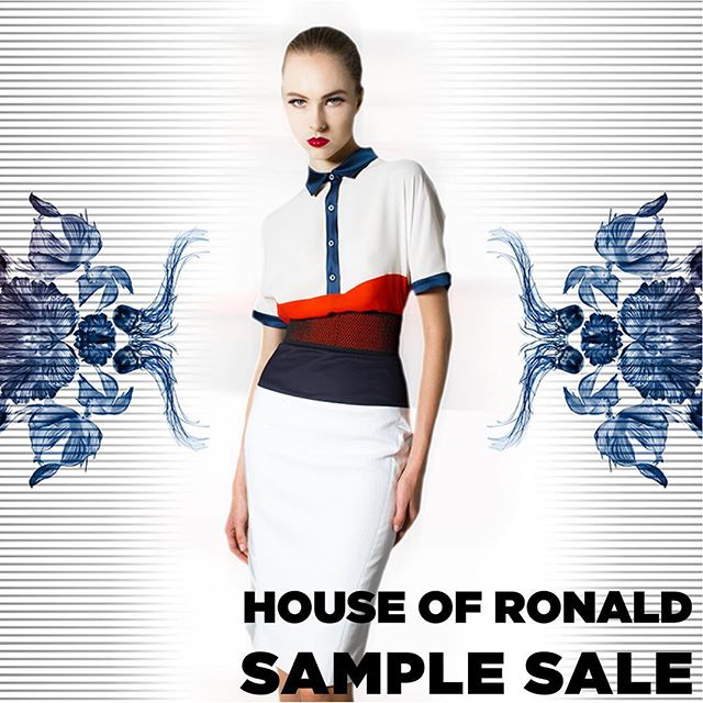 @houseofronald #samplesale from the 28th of September till the 1st of October at our studio in achrafieh tabaris- 11am to 5pm - call 03393128 for more information