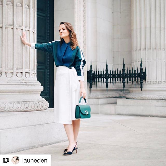 @launeden looking great in her @houseofronald shirt! #fashion #londonfashion