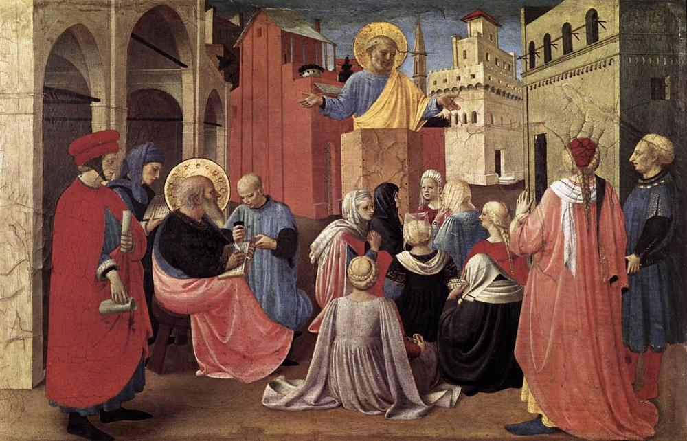 St Peter Preaching in the Presence of St Mark, Fra Angelico (Italian, c. 1433)