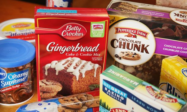 Food items which contain trans fat are shown on November 7, 2013 in Chicago, Illinois. (Scott Olson/Getty)