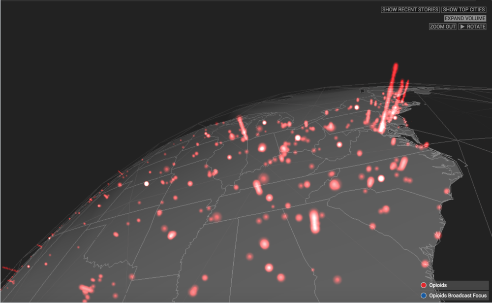 PGP visualizes data in real time, such as the ping map above, to provide situational awareness for evolving public health crises and to help analysts understand at a glance complex and large datasets.