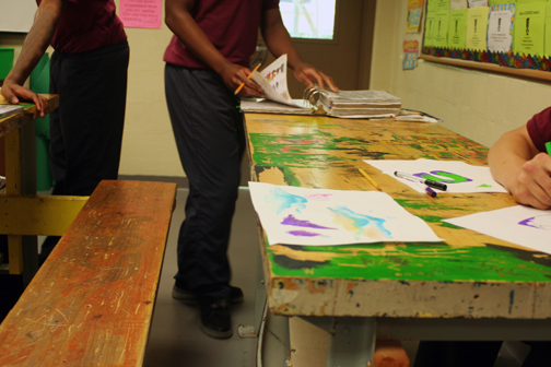 Youth Artists working at the BCJJC