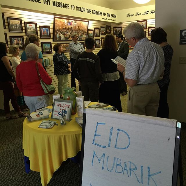 Learning before we join Nusrat Mosque for Eid Al-Ahad, celebrating Abraham's willingness to offer m sacrifice.