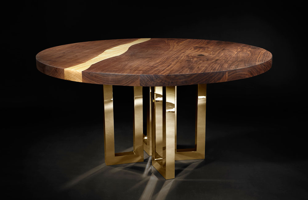 Il Pezzo 6 Round Table Solid Walnut Solid
