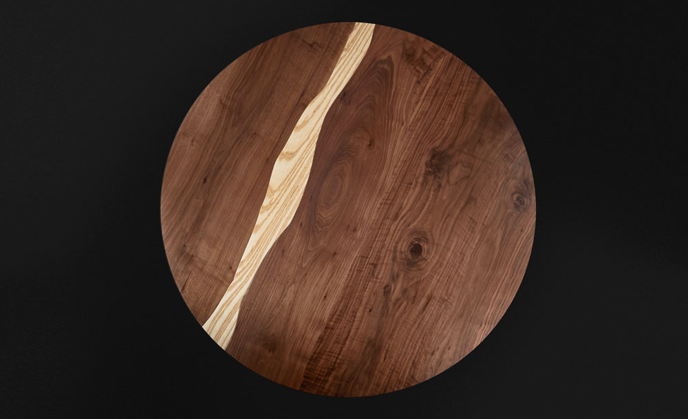 Wooden Table Top View ~ Il pezzo round table — mancante
