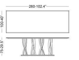 Tavolo in marmo 260x100