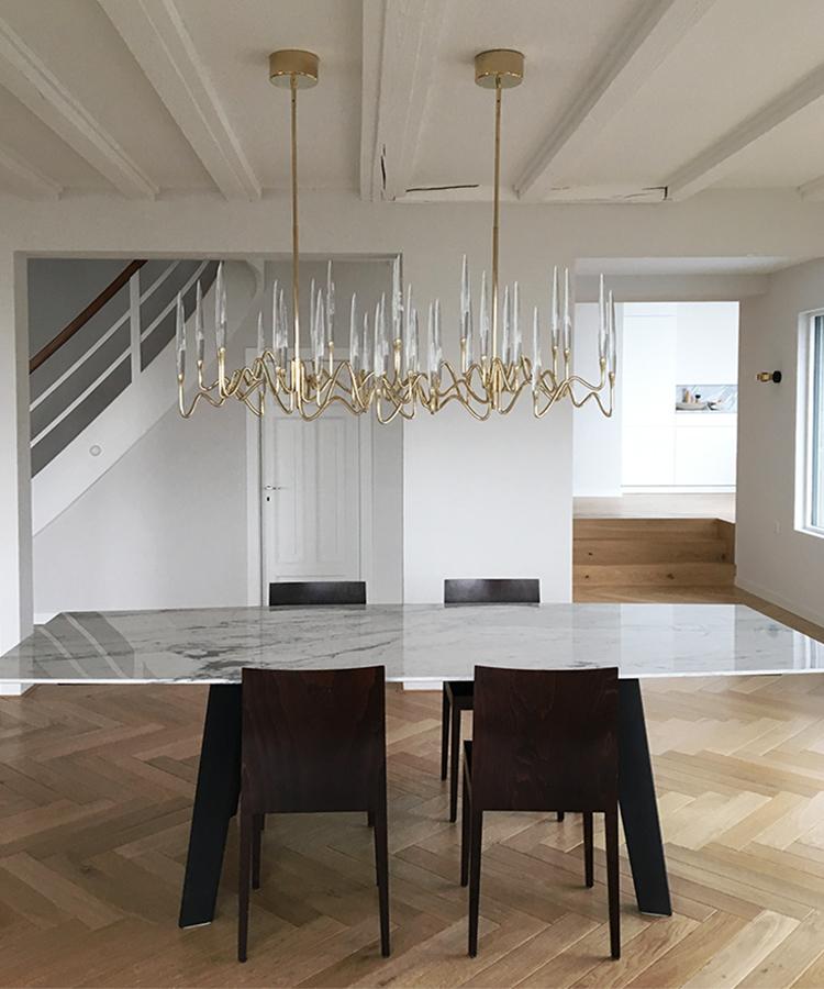 Il Pezzo 3 Long Chandelier is a LED lamp by Il Pezzo Mancante