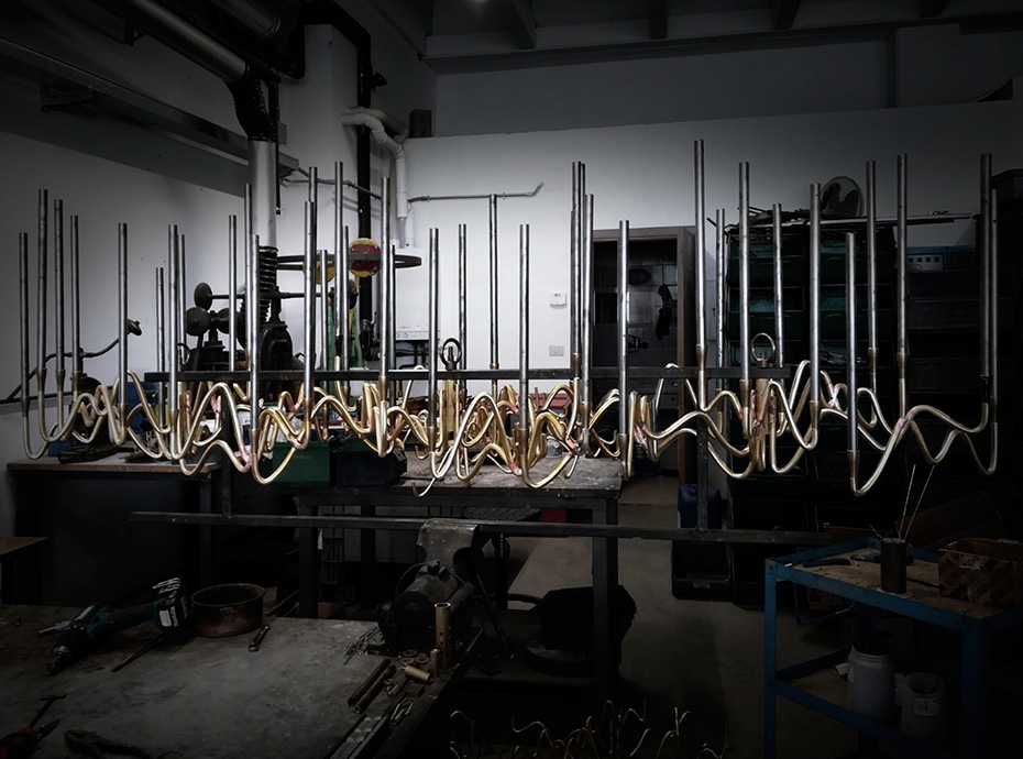 Manufacturing Il Pezzo 3 Chandelier by Il Pezzo Mancante