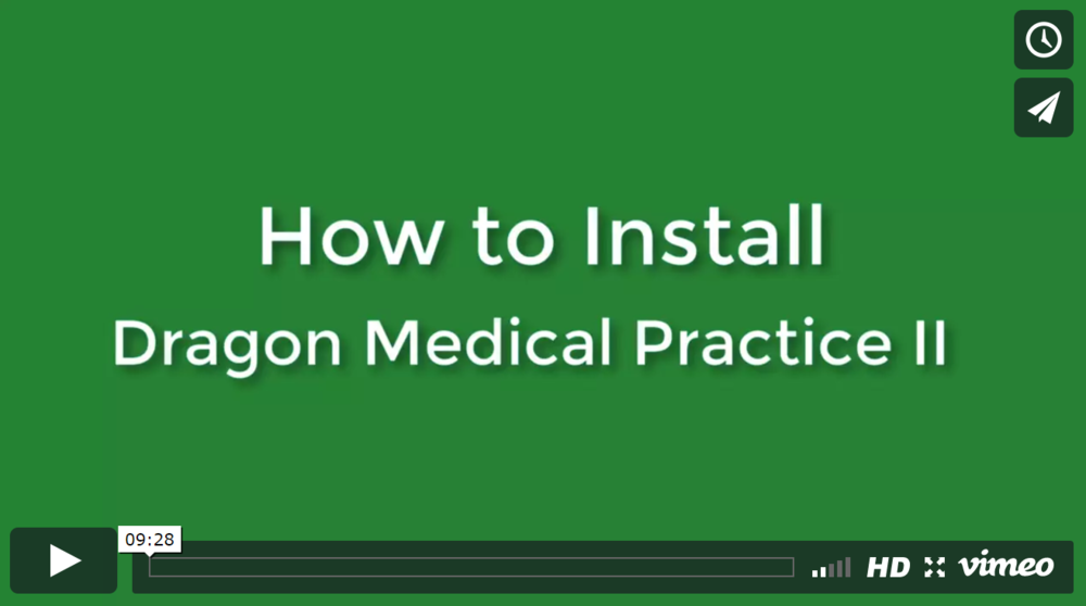 TUTORIAL #1: INSTALLING DRAGON MEDICAL   This brief tutorial goes over the steps you need to follow to properly install your Dragon Medical Practice Edition 2 software on your desired devices.