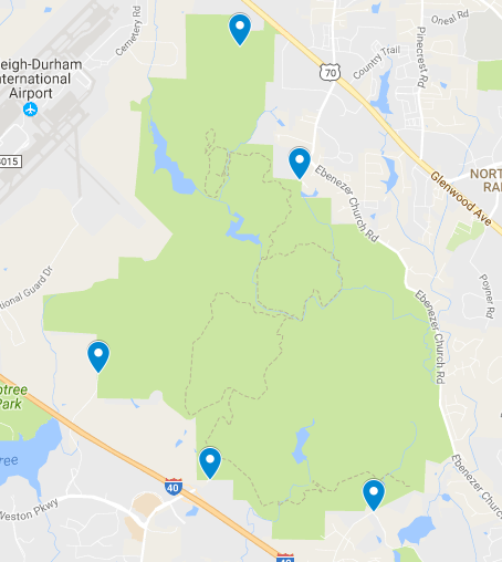 Sensor Placement Around the Umstead State Park