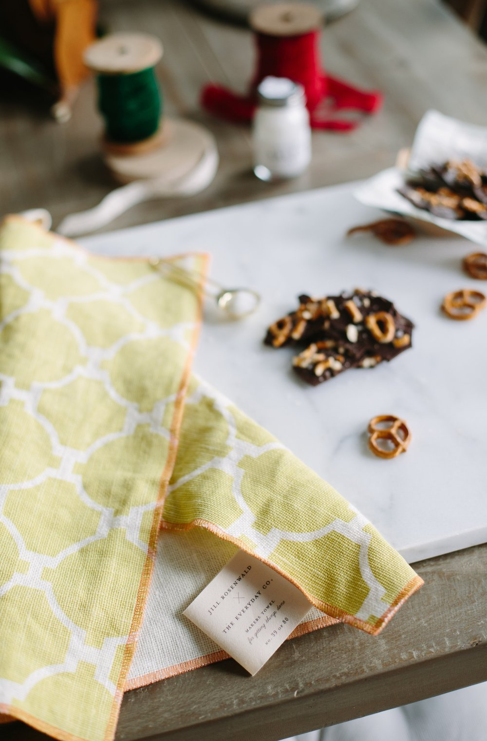 jill-rosenwald-linen-towel-kathryn-yee-simple-holiday-bark-chocolate-recipe