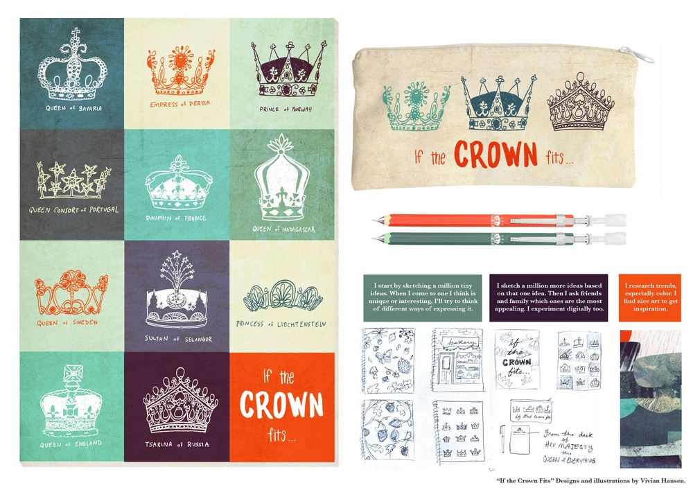 If the Crown Fits Stationery Set