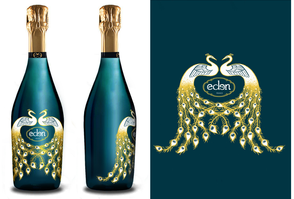 Peacock Bottle Design
