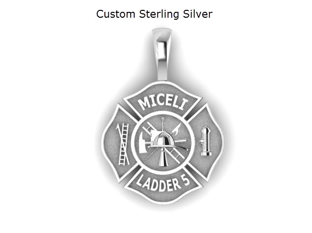 Jewelry and gifts for firefighters and police custom firefighter maltese pendants aloadofball Images