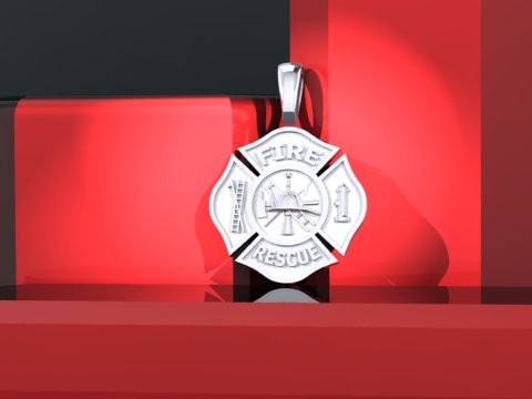 firefighter jewelry maltese cross