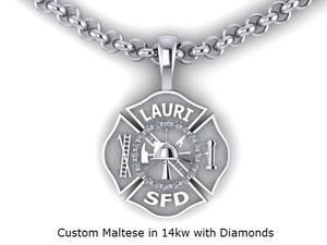 Firefighter maltese cross necklace pendants firedog jewelry firefighter maltese cross necklace aloadofball Choice Image