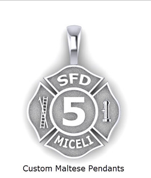 Jewelry and gifts for firefighters and police firefighter maltese pendant aloadofball Gallery