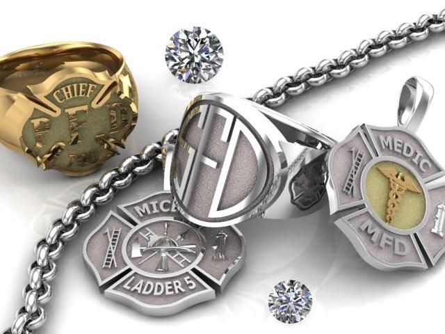 Firefighter jewelry custom made for you firedog jewelry firefighter jewelry custom made for you aloadofball Choice Image