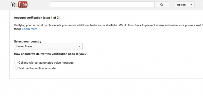 youtube account verification, verify youtube account