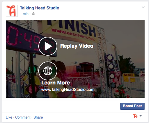 Facebook Video Call To Action Example