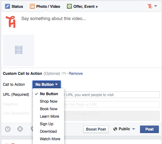 Step 3 facebook Video Call To Action