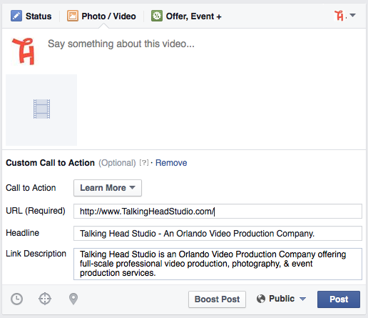 Step 4 Facebook Video Call To Action