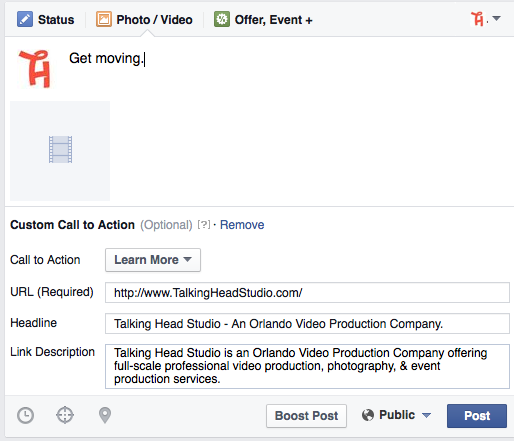 Step 5 Facebook Video Call To Action