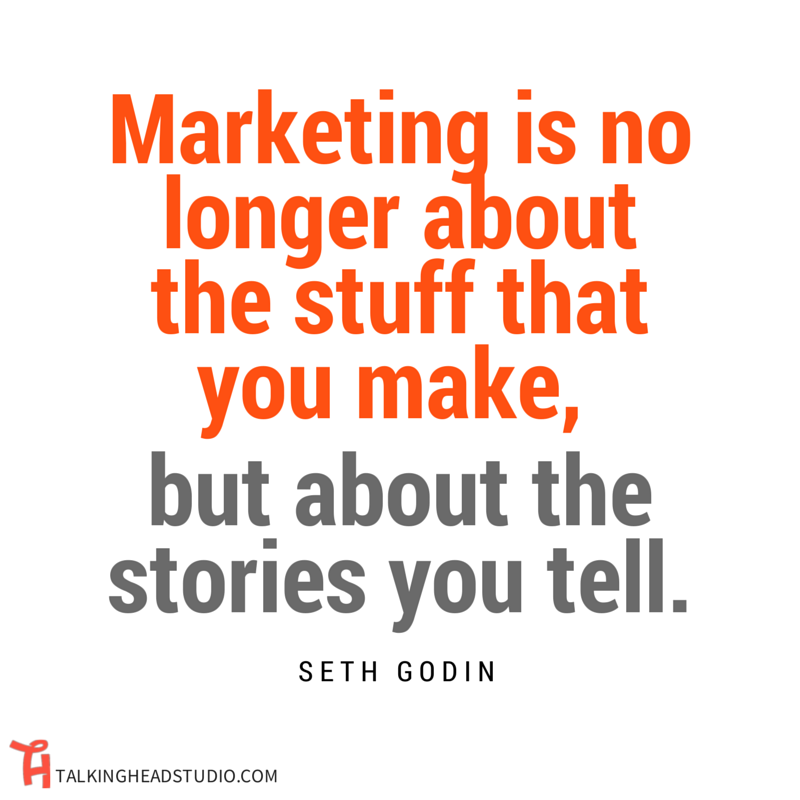 ONLINE VIDEO MARKETING SETH GODIN STORYTELLING QUOTE
