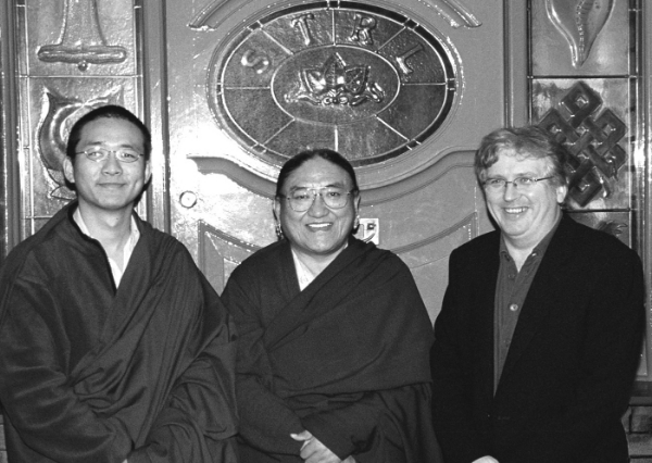 H.H. Sakya Trizin, H.E. Gyana Vajra, Lama Jampa Thaye, Sakya Thinley Rinchen Ling, 2002