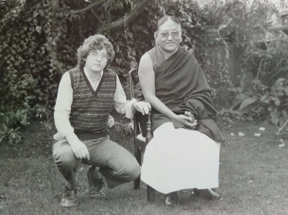 H.H. Sakya Trizin and Lama Jampa Thaye, 1984