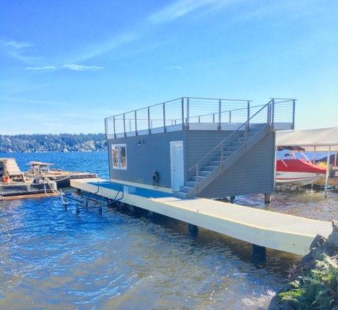 Dock construction and boathouse Lake WA